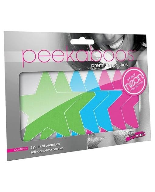 Peekaboos Neon Stars Value Pack - O/S Pack of 3