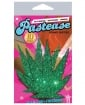 Pastease Green Glitter Marijuana Leaf O/S