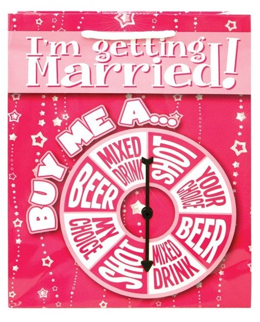 I'm Getting Married Buy Me A...Spinner Gift Bag