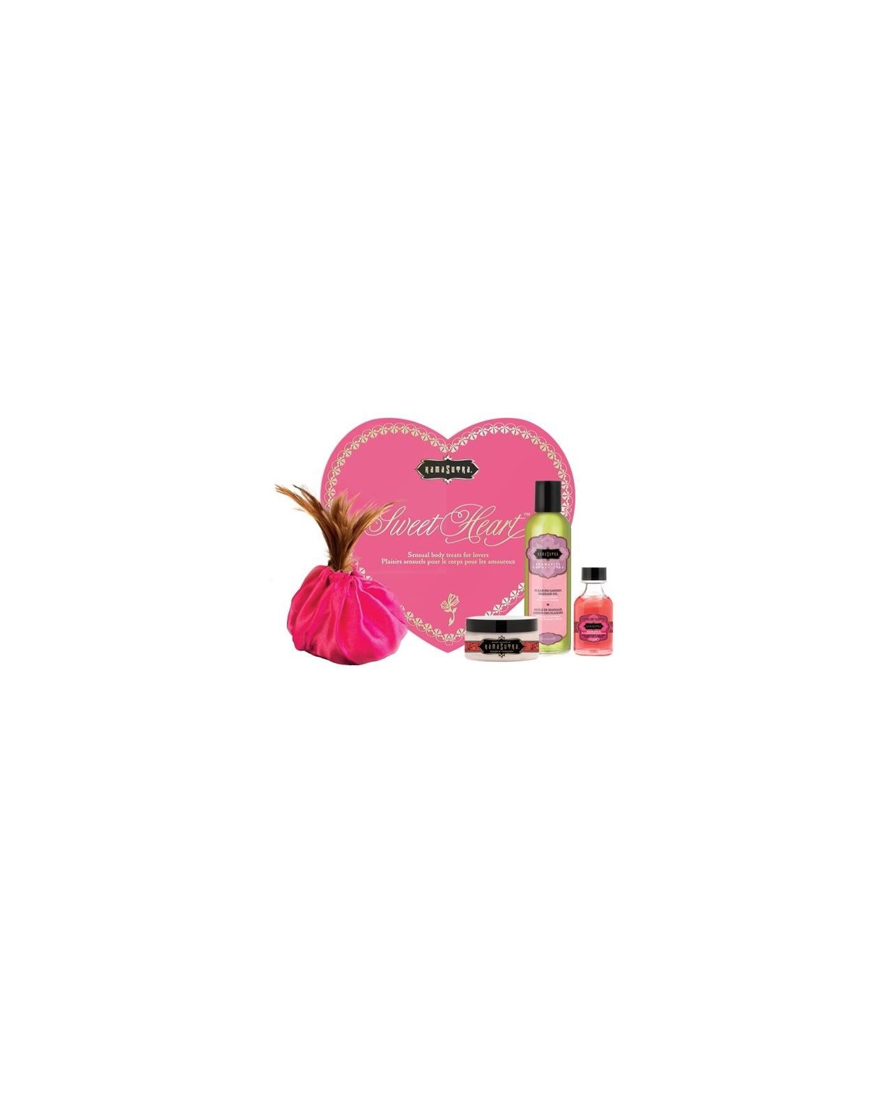 Kama Sutra Sweet Heart Massage Kit - Strawberry