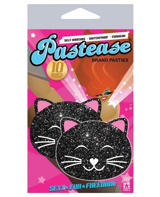 Pastease Black Glitter Black Cat O/S