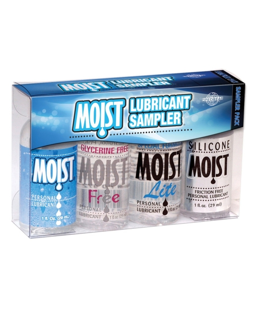 Moist Lubricant Sampler - Pack of 4