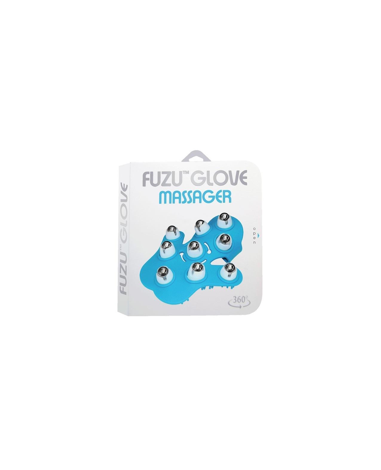 Fuzu Glove Massager - Neon Blue