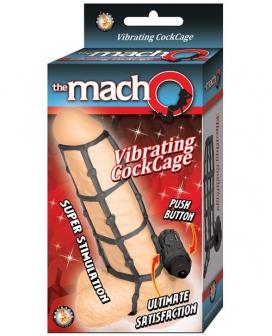 MachO vibrating Cock Cage - Black