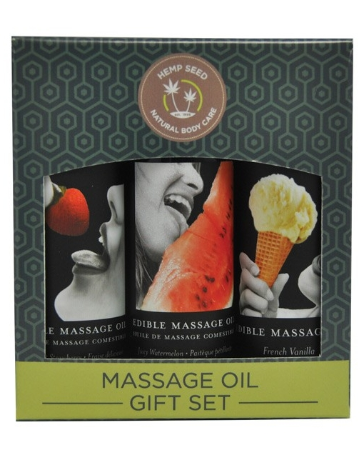 Earthly Body Edible Massage Oil Gift Set - 2 oz Watermelon