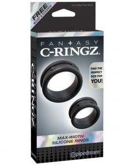Fantasy C-Ringz Max Width Silicone Rings - Black