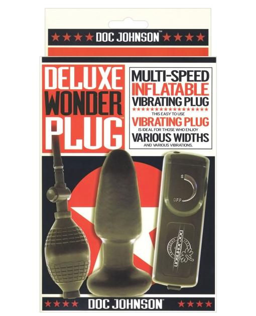Deluxe Wonder Plug Inflatable Vibrating Butt Plug - Multi-Speed