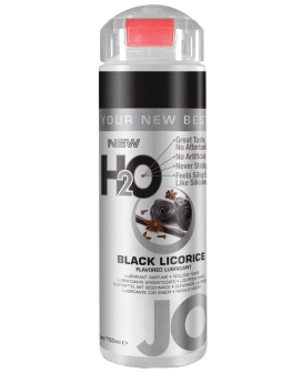 System JO H2O Flavored Lubricant - 5.25 oz Black Licorice