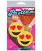 Pastease Yellow Glitter Emojis w/Heart Eyes