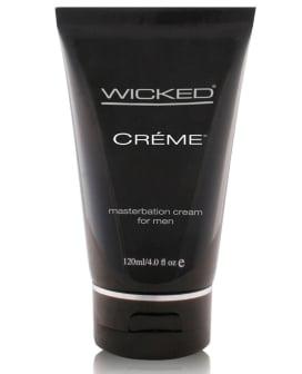 Wicked Sensual Care Collection Masturbation Cream for Men Silicone Based - 4 oz Creme to Liquid