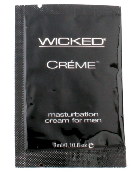 Wicked Sensual Care Collection Masturbation Cream for Men Packette - .1 oz Creme to Liquid  e
