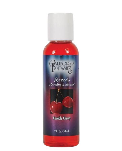 Razzels Warming Lubricant - 2 oz Kissable Cherry