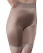 Rago Shapewear Long Leg Shaper w/Gripper Stretch Lace Bottom Mocha 3X