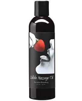 Earthly Body Hemp Edible Massage Oil - 8 oz Strawberry
