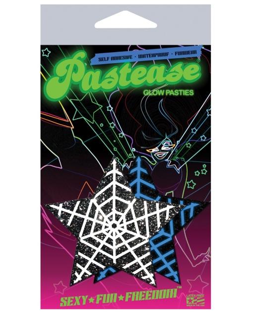 Pastease Halloween Glow in the Dark Web Pasties O/S