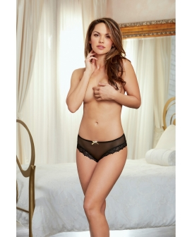 Holiday Stretch Mesh Cheeky Panty Black/Gold LG