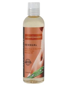 Organic Sensual Massage Oil - 4 oz Cocoa Bean & Gogi Berry