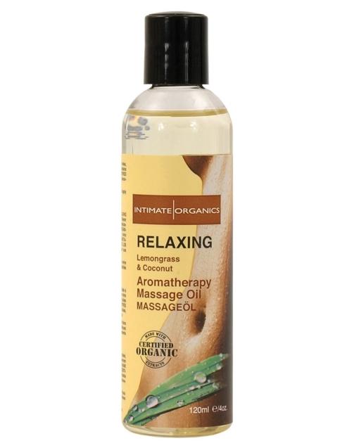 Organic Relaxing Massage Oil - 4 oz Coconut & Lemongrass