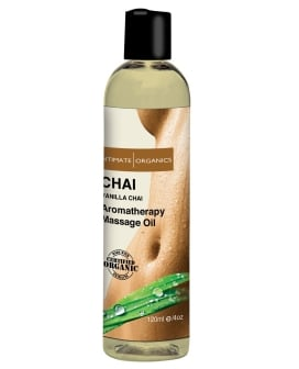 Intimate Organics Chai Massage Oil - 4 oz Vanilla & Chai