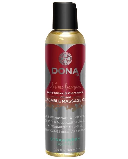 Dona Kissable Massage Oil - 4 oz Strawberry Souffle