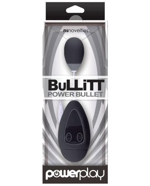NS Novelties Powerplay Bullitt Power Bullet Single - Black