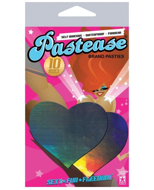 Pastease Hologram Heart - Silver O/S
