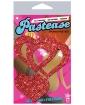 Pastease Glitter Peek a Boob Hearts - Red