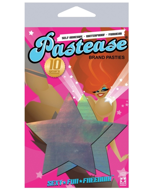 Pastease Hologram Star - Silver O/S