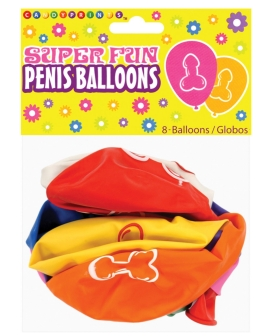 Super Fun Penis Balloons - Pack of 8