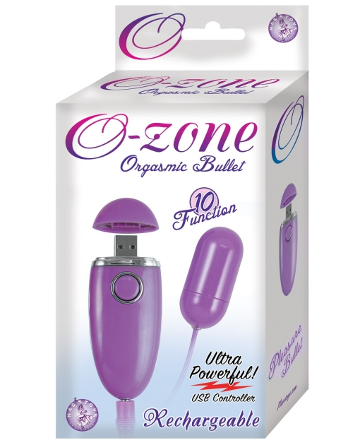 O Zone USB Rechargeable Orgasmic Bullet - 10 Function Purple