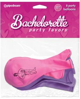 "Bachelorette Party Favors 11"" Balloons - Asst. Colors Pack of 8"