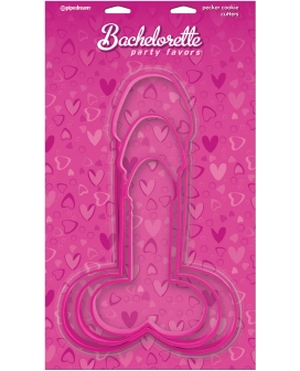 Bachelorette Party Favors Pecker Cookie Cutters - Pack of 3 Sizes