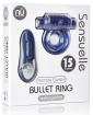 Sensuelle Remote Control Rechageable Bullet Ring - Blue
