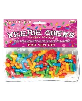 Weenie Chews Candies - Asst. Flavors Bag of 125