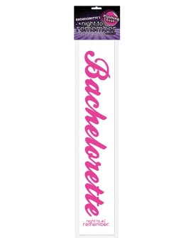 Night to Remember Bachelorette Flashing Sash by sassigirl