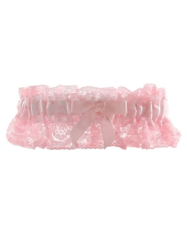Night to Remember Leg Garter - White/Pink Bulk Packaging by sassigirl