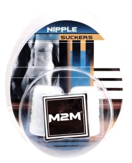 M2M Silicone Nipple Suckers Large - Clear