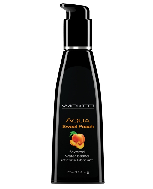 Wicked Sensual Care Waterbased Lubricant - 4 oz Sweet Peach