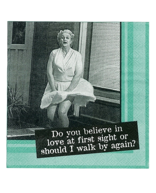 Sexy Soft Bodies Do You Believe in Love at First Sight....Napkins - Set of 20
