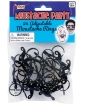 Mustache Party Adjustable Mustache Ring - Black Pack of 24