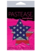 Pastease Glitter Patriotic Star - Red/Blue O/S