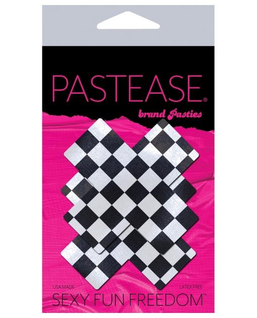 Pastease Checker Cross - Black/White O/S