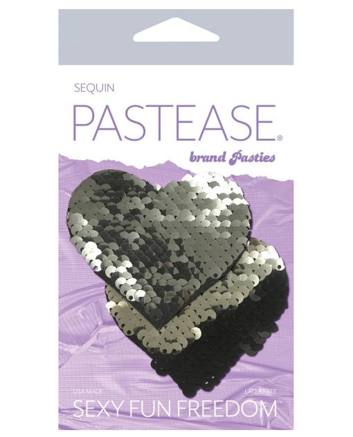 Pastease Color Changing Flip Sequins Heart - Slate/Black O/S