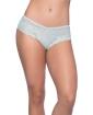 Suzette Soft Textured Lace High Leg Tanga Blue Glow 3X