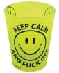 Keep Calm & Fuck Off Shot Glass - Yellow