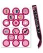 Bachelorette Sash w/Stick On Badges