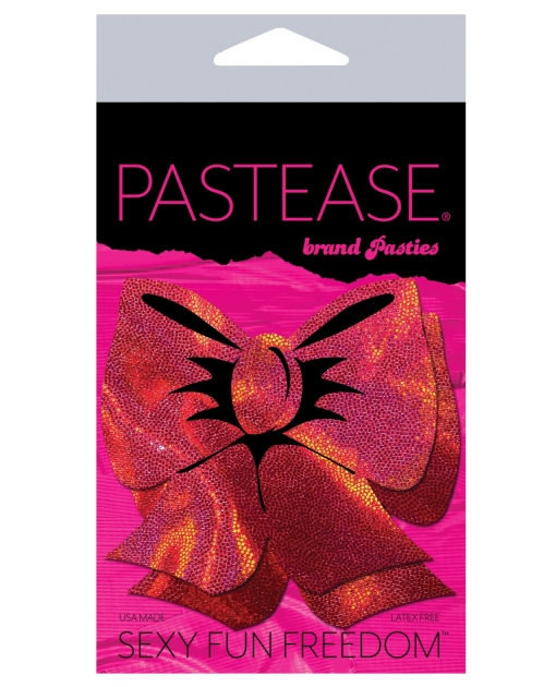 Pastease Hologram Bow - Red O/S