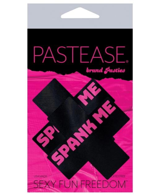 Pastease Spank Me Plus - Black/Pink O/S