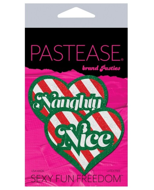 Pastease Naughty/Nice Candy Canes Heart - Multicolors O/S