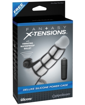 Fantasy Xtensions Deluxe Silicone Power Cage - Black